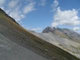 terugblik naar Col de l'Aup Martin (2761 meter)