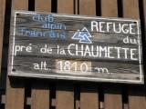 Refuge du Pré de la Chaumette