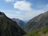 steile afdaling naar Le Désert -en-Valjouffrey