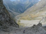steile klim richting col de la Muzelle