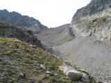 blik terug naar col de la Muzelle (2625 meter)