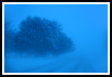 Blue Snow Abstract