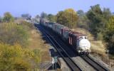 BNSF Transcon Kansas Two Trains