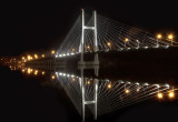 Burlington Iowa Bridge at Night