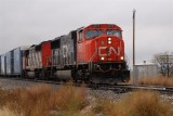 CN 5717 heads south @ Tolono IL