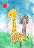giraffe, Flora, age:5