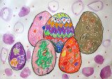 Easter Eggs, Tracy, age:5