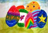 Easter eggs, Jasmine, age:5