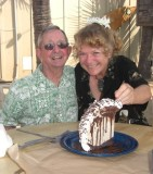 Leo and Ginger eating mud pie 1 10.JPG
