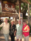 Sue Ginger Leo Mary Lou at the rocks.JPG