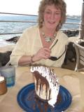 Sue with mud pie.JPG