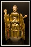 Statuette Ouvrante: Vierge et Trinite, vers 1400