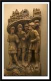 Cinq soldats d'une scene de la passion, vers 1500-1510