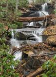 upper waterfall on Bennett Branch Trail