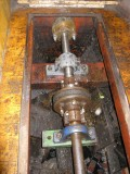 The metallastic coupling and plummer block reinstalled