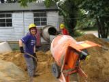 Helen on the mixer