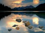 Lake clouds and rocks.JPG