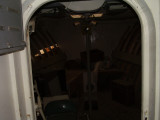 Entry to the forward cabin down below.