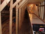 Under the boardwalk... ground level... a workbench.