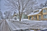 Snow Day in the Historic District of Sioux Falls