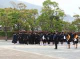 Students at Nagasaki Peace Park