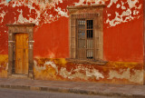Red Wall Peeling Paint