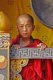 Monk Beside Gong
