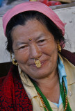 Woman Gold Nose Ring