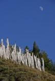 Hillside Prayer Flags and Moon