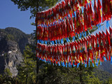 Tigers Nest Monastary and Flags