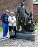 Barbara & Charlie at the Emigrants Memorial in Liverpool