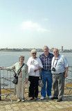 Charlie Barbara Philip  & Pat beside the Mersey in Liverpool