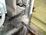 THE LEFT SIDE  DOOR FRAME IS ATTACHED TO THE DRAWER WITH THESE BRACKETS WHICH ALSO HAVE THE DRAWER LOCK TABS