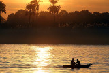 First sunset on the Nile