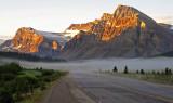 Sunrise on Crowfoot Glacier