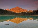 Franchere Peak in Cavell Lake
