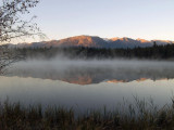 Autumn Sunrise at Lake Beauvert