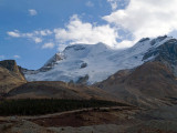 Bus ride up to Columbia Icefields