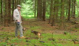 Larry & Dogs in the Woods