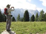Paco fotografiando la Civetta