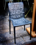 You might sit on the menu, if you feel like...