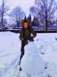The snow man's girlfriend