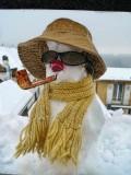 Windowsill snowman....