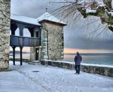 A walker in winter one morning...