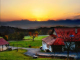 Sunrise from Jura...