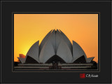 Sunset at Lotus Temple
