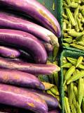 Eggplants and Okra