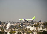 san diego waterfront (airliner on approach to lindbergh field)