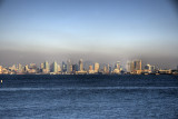 san diego skyline from across the bay
