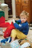 Sam Investigating His Stocking,  2544